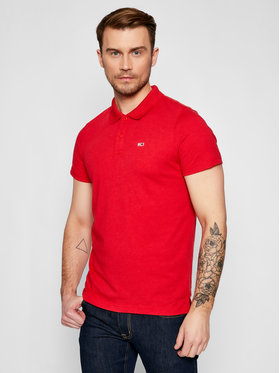Tommy Jeans Tommy Jeans Polo Essential DM0DM10322 Rosso Regular Fit