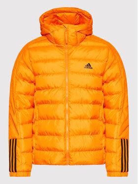 adidas adidas Пухено яке Itavic 3-Stripes GQ2348 Оранжев Regular Fit