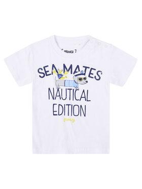 Primigi Primigi T-Shirt Sea Friends 45221003 Biały Regular Fit