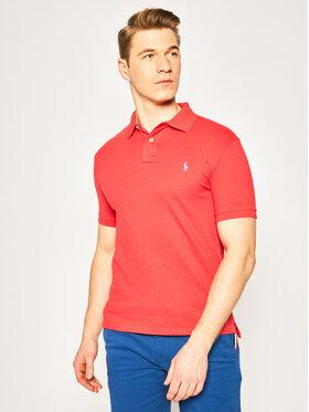 Polo Ralph Lauren Polo Ralph Lauren Тениска с яка и копчета 710536856 Червен Slim Fit