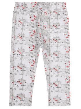 Primigi Primigi Leggings I Love Red 43126501 Weiß Regular Fit