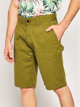 Tommy Jeans Tommy Jeans Szövet rövidnadrág Dobby Chino DM0DM07940 Zöld Regular Fit