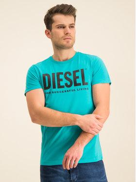 Diesel Diesel T-Shirt T-Diego-Logo 00SXED 0AAXJ Niebieski Regular Fit