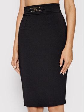 Elisabetta Franchi Elisabetta Franchi Puzdrová sukňa G0-486-16E2-V240 Čierna Slim Fit
