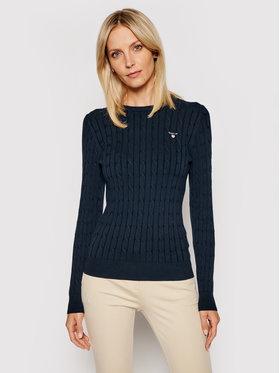 Gant Gant Sweater Stretch Cable Crew 480021 Sötétkék Slim Fit