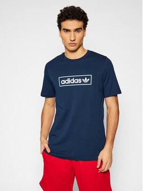 adidas adidas Тишърт Linear Logo HB1817 Тъмносин Regular Fit
