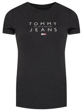 Tommy Jeans Tommy Jeans Tricou Tjw Essential Logo DW0DW08470 Negru Regular Fit