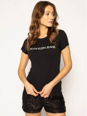 Calvin Klein Jeans Calvin Klein Jeans T-Shirt Institutional J20J207879 Černá Regular Fit