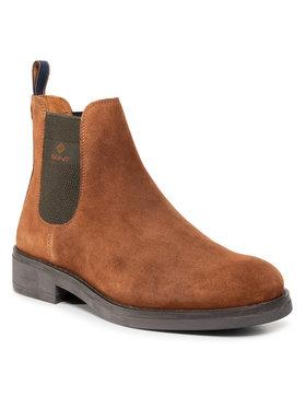 Gant Gant Kotníková obuv s elastickým prvkem Brookly 21653010 Hnědá