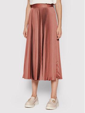 TwinSet TwinSet Plesirana suknja 212TP2441 Ružičasta Regular Fit
