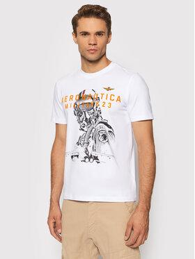 Aeronautica Militare Aeronautica Militare T-Shirt 212TS1913J469 Biały Regular Fit