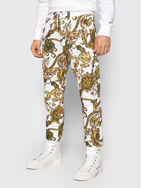Versace Jeans Couture Versace Jeans Couture Teplákové kalhoty Print Bijoux Baroque 71GAA3B0 Bílá Regular Fit