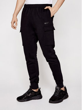 Sprandi Sprandi Teplákové nohavice SS21-SPM001 Čierna Regular Fit