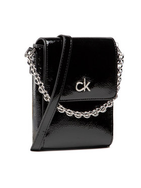 Calvin Klein Calvin Klein Borsetta Ns Mini Bag W/Flap Patent K60K608321 Nero