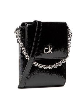 Calvin Klein Calvin Klein Дамска чанта Ns Mini Bag W/Flap Patent K60K608321 Черен