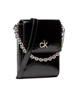 Calvin Klein Calvin Klein Kabelka Ns Mini Bag W/Flap Patent K60K608321 Čierna