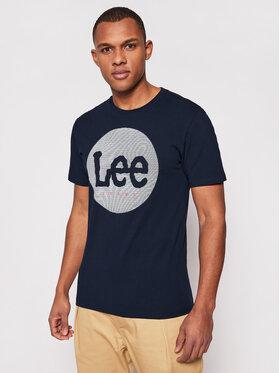 Lee Lee Marškinėliai Circle L64EFQ35 Tamsiai mėlyna Regular Fit