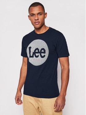 Lee Lee T-Shirt Circle L64EFQ35 Granatowy Regular Fit