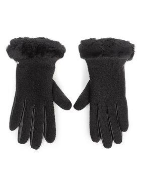 Ugg Ugg Dámské rukavice W Fabric Lthr Shorty Glove 18813 Černá