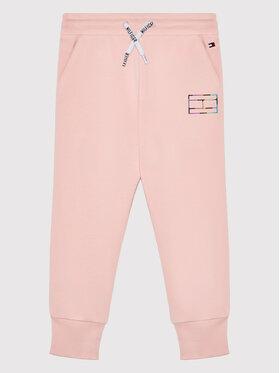 Tommy Hilfiger Tommy Hilfiger Spodnie dresowe Reflective Print KG0KG06005 M Różowy Regular Fit