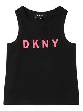 DKNY DKNY Marškinėliai D35Q48 M Juoda Regular Fit