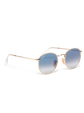 Ray-Ban Ray-Ban Sonnenbrillen Round Flat Lenses 0RB3447N 001/3F Goldfarben