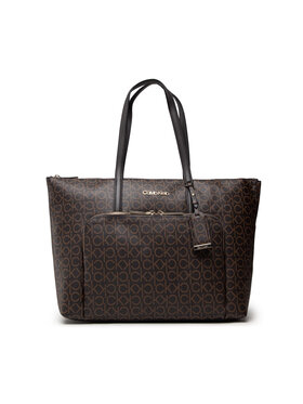 Calvin Klein Calvin Klein Rankinė Must Shopper Lg W/Pocket Mono K60K608569 Ruda