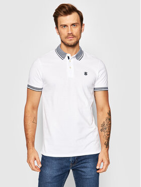 Selected Homme Selected Homme Polo Twist 16065598 Biały Regular Fit