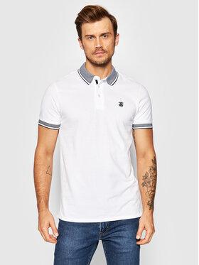 Selected Homme Selected Homme Тениска с яка и копчета Twist 16065598 Бял Regular Fit