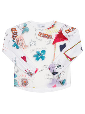Desigual Desigual Blusa Gracia 20WGTK82 Bianco Regular Fit