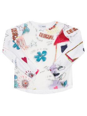 Desigual Desigual Блуза Gracia 20WGTK82 Бял Regular Fit