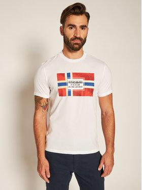 Napapijri Napapijri Marškinėliai Sera Ss NP0A4EOC Balta Regular Fit