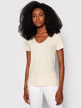 Calvin Klein Jeans Calvin Klein Jeans T-Shirt Monogram J20J217166 Beżowy Slim Fit