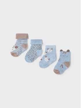 Mayoral Mayoral Σετ ψηλές κάλτσες παιδικές 4 τεμαχίων 9426 Μπλε