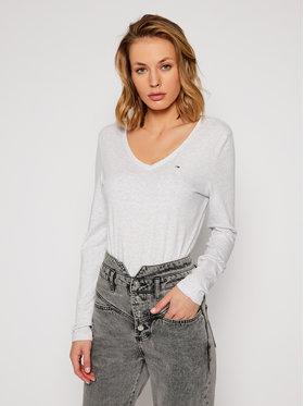 Tommy Jeans Tommy Jeans Bluzka Jersey V Neck DW0DW09101 Szary Regular Fit