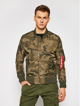 Alpha Industries Alpha Industries Geacă bomber Camo 191103C Verde Regular Fit