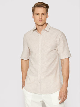 Only & Sons Only & Sons Риза Caiden 22009885 Бежов Slim Fit