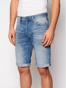 G-Star Raw G-Star Raw Szorty jeansowe 3301 1/2 D07432-8973-424 Niebieski Straight Fit