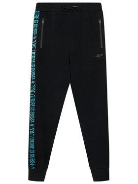 4F 4F Teplákové kalhoty HJL21-JSPMD002 Černá Regular Fit