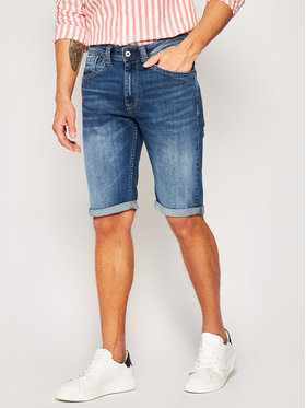 Pepe Jeans Pepe Jeans Jeansshorts Cash PM800074 Dunkelblau Regular Fit