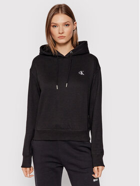 Calvin Klein Jeans Calvin Klein Jeans Pulóver Embroidered Logo J20J213178 Fekete Regular Fit