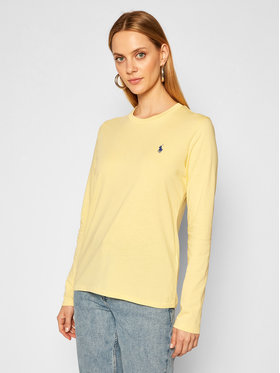 Polo Ralph Lauren Polo Ralph Lauren Bluză Lsl 211757946016 Galben Regular Fit