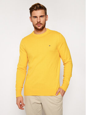 Tommy Jeans Tommy Jeans Sweater Pima Cotton Cashmere Crew MW0MW11674 Sárga Regular Fit