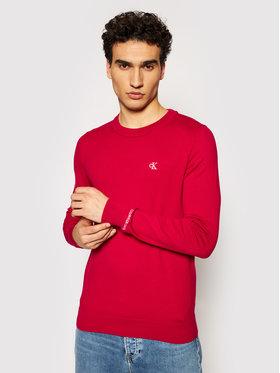 Calvin Klein Jeans Calvin Klein Jeans Sweter Stretch Jumper J30J317118 Czerwony Regular Fit