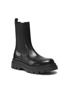 TWINSET TWINSET Členková obuv s elastickým prvkom Anfibio 212TCP232 Čierna