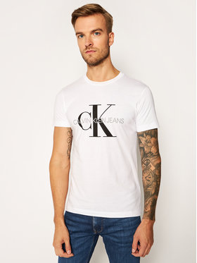 Calvin Klein Jeans Calvin Klein Jeans T-shirt Core Monogram Logo J30J314314 Bianco Regular Fit