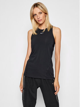 Nike Nike Тениска от техническо трико Pro AO9966 Черен Slim Fit