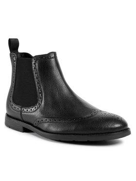 Clarks Clarks Kotníková obuv s elastickým prvkem Ronnie Top 261523227 Černá