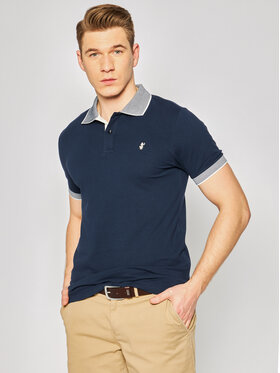 Save The Duck Save The Duck Polo DR058M PICOX Bleu marine Regular Fit