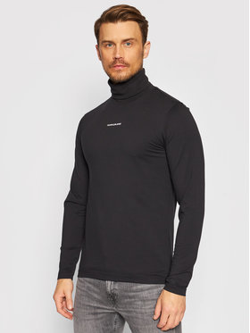 Calvin Klein Jeans Calvin Klein Jeans Bluză cu gât J30J318469 Negru Slim Fit